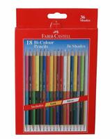 Best Faber-Castell Bi-Colour Pencil Pack of 18 (Assorted) Free Shipping