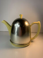 Hall pottery Vintage Teapot With Metal Insulating Cover