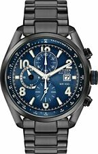 Citizen Chandler Eco-drive movimiento Esfera Azul Reloj para hombres CA0365-54L