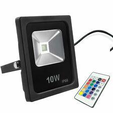 10W RGB LED Floodlight Spotlight Garden Security light Waterproof Remote Control