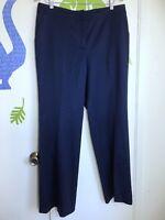 St. John Women's Navy Blue Wool Spandex Career Dress Pants Size 12