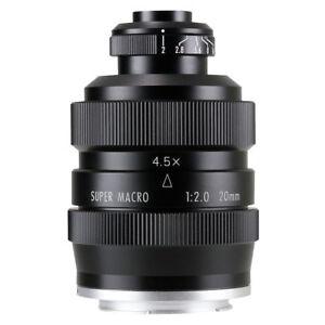 Zhongyi Mitakon 20mm f/2 4.5X Super Macro Lens for Mirrorless Canon EOS M camera