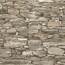 Beige Stone Wallpaper Realistic 3D Effect Natural Wall Design 1282