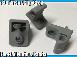 2x Sun Visor Clip Grey For Fiat Punto & Panda Visor Clip Replacement