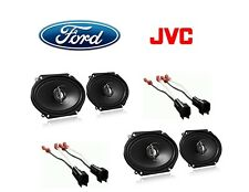 NEW JVC F-150 250 350 TRUCK STEREO 2-WAY FRONT AND REAR SPEAKERS W HARNESS