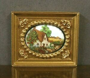 """Porcelain Picture ~ Dollhouse ~ UK ~ 1/12 or 1/24 scale ~ Artisan ~ 1/2"""" scale"""