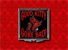 EVIL CAT MOUSE GOOD KITTY GONE BAD MAKEUP POCKET COMPACT MIRROR