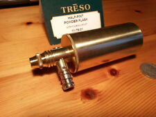 TRESO Powder flask solid brass HALF PINT SIZE, Muzzleloading MADE IN USA