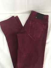 Women's Terra Nostra Maroon Color Jeans Size 32 Style PS-001