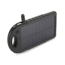 Portable External 5000mAh Waterproof Solar Charger Dual USB Battery Power Bank