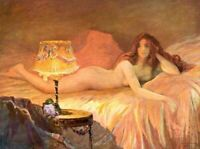 CHENPAT1393 naked girl on bed girl portrait hand painted oil painting art canvas