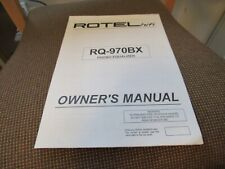 ROTEL. ORIGINAL OWNER'S MANUAL. MODEL RQ-970BX. PHONO EQUALIZER USED