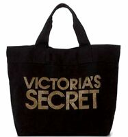 NEW Victoria's Secret Gold Studs & Black Tote Bag