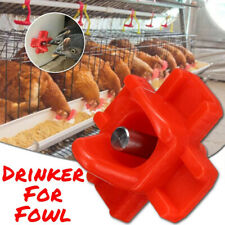 10X Horizontal Side Mount Poultry Chicken Drinking Tap Dispenser Nozzle Nipple