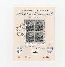 FRANCOBOLLI 1946 LUOGOTENENZA C.40 SU 2 CARTONCINI RICORDO FILATELICO RIF. 2366
