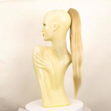 Postiche queue de cheval longue 70 cm  blond doré blond très clair 7 en 24bt613