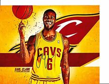 CLEVELAND CAVS EARL CLARK SIGNED 8X10