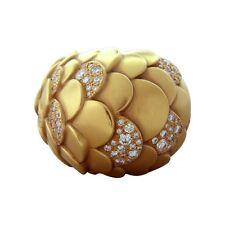 New Pomellato Sirene 18K Gold Diamond Dome Ring $16350
