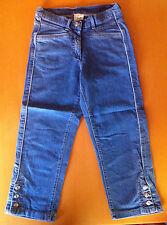 Damen 3/4 Stretch-Jeans Capri-Hose blau /blue stone Kurz Größe18 Denim-Material