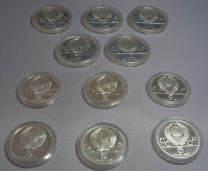 Lotto Di 11 Commemorative Olympic Dalla Russia Argento Monete