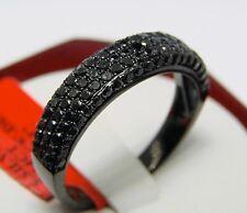 MENS BLACK DIAMONDS PAVE 5.5 MM BAND RING 1.54 CT