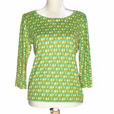 Talbots Womens Pear Print Pullover 3/4 Sleeve Sweater Size Medium Petite MP
