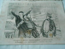 HD 3539 Daumier 1851 - Jean Stud and Delorme seeking the court of the louvre