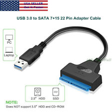 "USB 3.0 to 7+15 Pin SATA III 2.5"" Hard Drive Adapter Cable UASP - SATA to USB3.0"