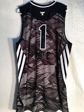 Adidas Swingman NBA Jersey Chicago Bulls Derrick Rose Black All-Star 2013 sz XL