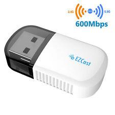 Ezcast Wireless USB WIFI Adapter 5G/2.5G Bluetooth 4.2 Dual Band AC 600Mbps