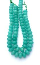 """AAA Natural Peruvian Amazonite Smooth Rondelle Beads 8x4mm  -  7.5"""" str."""