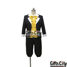 VOCALOID Kagamine LEN Black and White Uniform COS Cloth Cosplay Costume