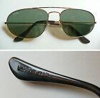 "B&L Ray-Ban U.S.A. ""W1597"" occhiali da sole vintage aviator sunglasses NOS 1980s"