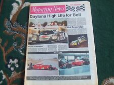 Motoring News 8 February 1989 Daytona 24 Frank Williams Wyedean Rally MN EARS