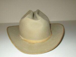 Vintage Stetson Cowboy Hat Beige size 7 Well Worn