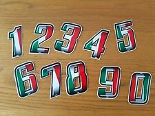 Motorcycle Racing Numbers Number Reflective Vinyl Self Adhesive Italian Flag
