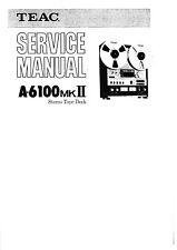 Service Manual-Anleitung für Teac A-6100 MK2