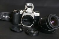 Pentax MZ-30 35mm film SLR camera w/ Tamron 28-20mm lens Tested GWO new batts