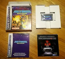 Metroid: Zero Mission - Game Boy Advance - complete and tested - CIB