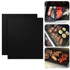 2Pcs Teflon Non-stick Reusable BBQ Grill Mats Sheet Baking Mat Cooking Barbecue