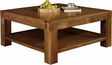 Solid Wood Square Traditional Coffee Tables with Shelves