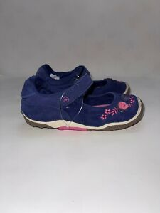 Toddler Stride Rite SRT Alise Mary Jane Navy Leather Size 9M