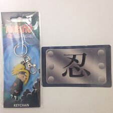 Official Naruto Shippuden Deidara Keychain + United Shinobi Forces Sticker Decal