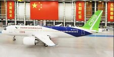 Comac C-919 China Narrow-Body Twin-Engine Jet Airliner Desktop Wood Model Large