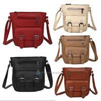 Ladies PU Leather Shoulder Bags Crossbody Handbags Tote Purse Messenger Satchel