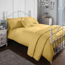 Pinsonic Easy Care Mustard Duvet Cover Set Sleepdown Bedding Bedroom Set