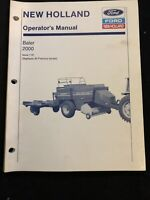 New Holland Operator's Manual Baler 2000 *713