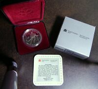 1993 CANADA PROOF .925 SILVER DOLLAR 100 YEAR STANLEY CUP ANNIVERSARY - COA  👀