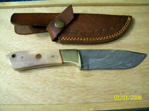 CUSTOM FIXED BLADE HUNTER KNIFE USA MADE AND CASE