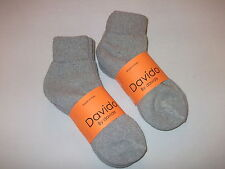 Davido women socks ankle/quarter made in Italy 100% cotton 8 pair gray siz 6-8